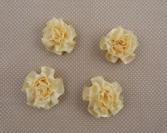 Cream fabric for embellishment flowers