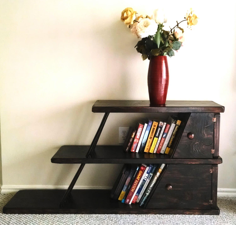Unique And Vintage Furniture: Leaning Bookshelf. Unique Modern Vintage Furniture
