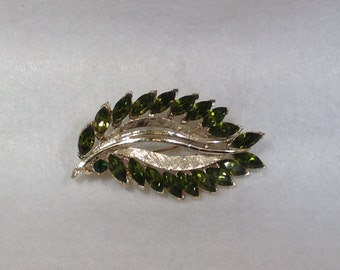 Olivine Green Vintage Brooch