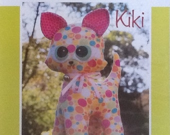 "Melly & Me Pattern ""Kiki"" MM122 by Melanie McNeice Soft Kitty Toy Pattern"
