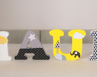 Wooden name letters to ask