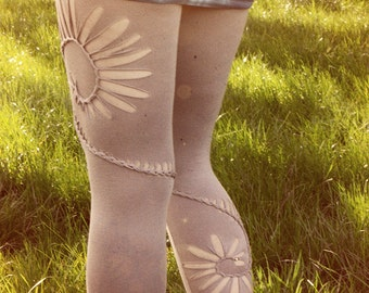 Double spiral festival weaved leggings. Braided pixie pants available in different sizes