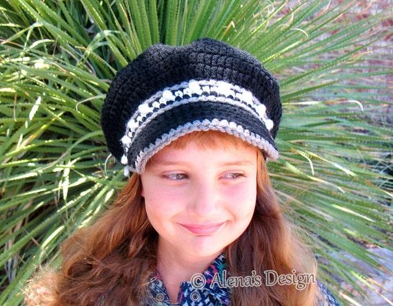 Crochet Pattern 171 - Crochet Hat Pattern for Banded Newsboy Hat Crochet Patterns Toddler Child Teen Adult Boys Girls Women Men Newsboy Cap