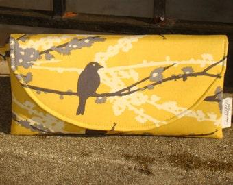 Yellow and Gray Aviary Clutch ... Joel Dewberry