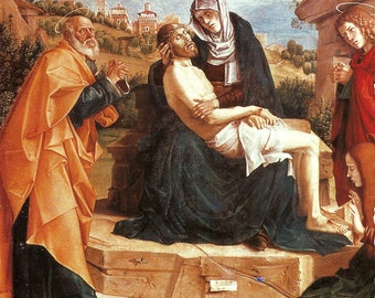 Religious Art, Pieta with Saints by Montagna & The Deposition by Master of Frankfurt is on the Reverse Side of the Page PSS 2946