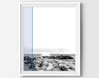 White Skyliane Print, Modern Wall Art, Modern Art Print, Modern Beach Decor, Black And White Photography, Photography Art, Office Decor