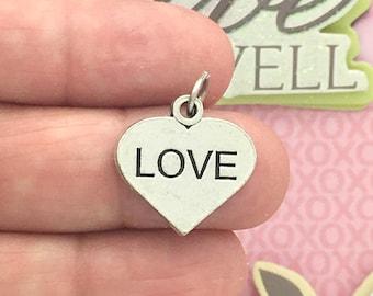 5 Silver Love Heart Charm SP0978