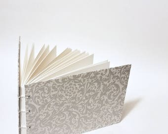 silver filigree coptic bound wedding guest book - blank silver wedding guestbook - small silver wedding guest book - hand bound guest book
