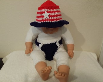 4th of July  Baby Crochet Outfit.