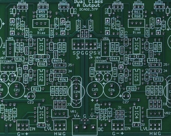 Dual Class-A II Reference Headphone Line Amp PC Board Only