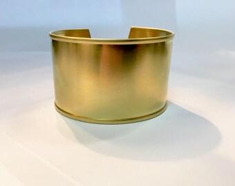 Cuff Bracelet in raw brass circular 32mm for jewelry designs