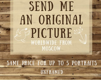 ADD-ON ~ Worldwide Shipping - Deliver your portrait from Russia with love