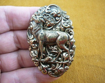 elk DEER brooch pin pendant brass jewelry B-Elk-2