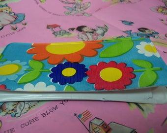 fun flowery vinyl pouch