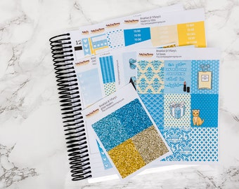 Breakfast @ Tiffany's sticker kit  / Erin Condren sticker kit / Happy Planner / planner stickers / vertical weekly kit / weekly planner kit