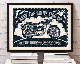 Bikers Motorbike Print | Motorbiking Print | Motorcycling Print | Motorcycle Print | Gifts for Men | Fathers Day Gift | Gifts for Him |