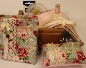 Floral Pincusion & Needlebook Kit