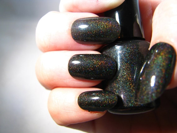 Event Horizon black holographic Nail Polish by Comet Vomit