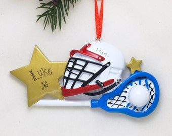 Lacrosse Christmas Ornament / Personalized Christmas Ornament / LAX / Lacrosse Team