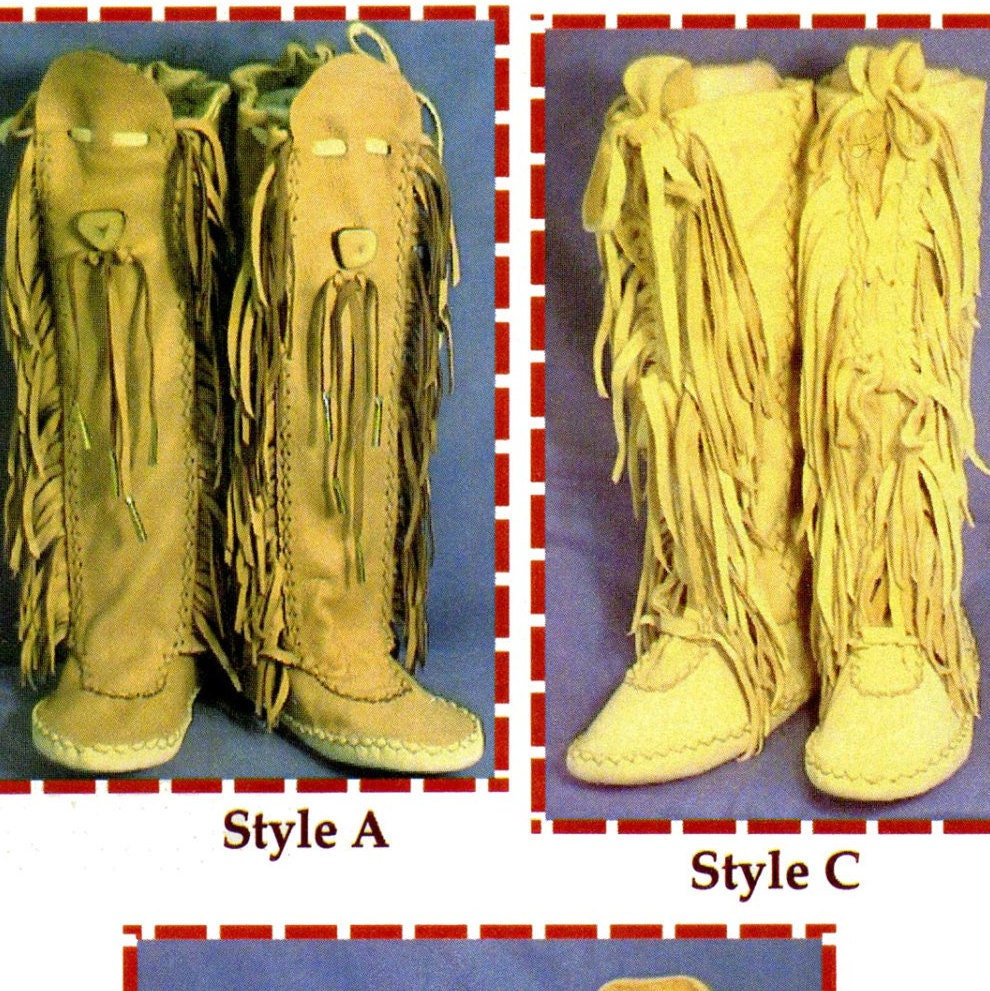 Native American Shawnee Indian Moccasin SEWING PATTERN - Includes 3 ...