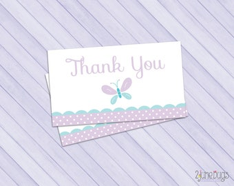 Butterfly Party Favor Tags, Butterfly Thank You Tags, Butterfly Baby Shower, Purple and Blue Butterfly, PRiNTABLE INSTANT DOWNlOAD