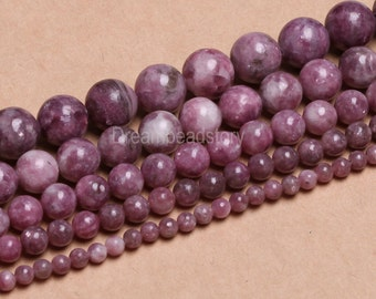 Natural Pink Tourmaline 4 6 8 10 12mm Round Loose Tourmaline Gemstone Beads (B56)