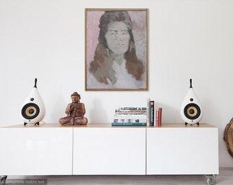 large painting / original art / portrait painting