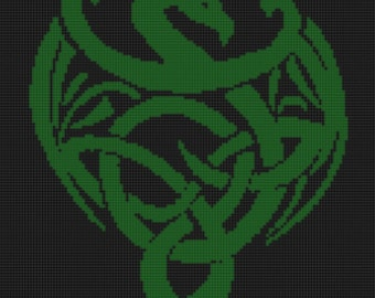 Celtic Dragon Cross Stitch Pattern