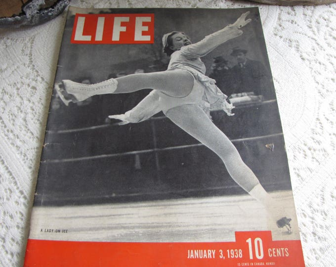Life Magazines 1938 January 3 A Lady On Ice Vintage Magazines and Advertising