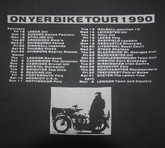 Vintage New Medium Bike Promo Post Ian shirt Indie Wave English 1990s T 1990 tee On Punk Yer ICICLE Tour THE WORKS Concert McNabb 4n4rT
