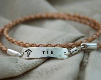 Simple Skinny Medical ID Bracelet - Medical Alert - Diabetes Bracelet - Customize