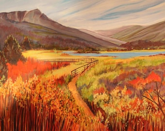 "I'd Like to Walk with You... An Original Painting by Janet Aitken  (28"" x 23"")"