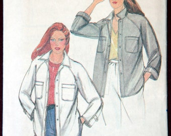 Women's Button-up Shirt Jacket 1970s Vintage Sewing Pattern BUTTERICK 3678, Size 10, UNCUT
