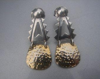 Two Tone Sterling Earrings 291.