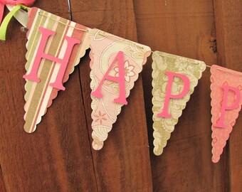 Happy First Birthday Banner, Birthday Banner, Happy Birthday Banner, Happy Birthday Girl Banner 1st Birthday,