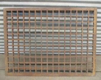 23.75 x 17.75 Cast Iron Floor Register Heat Vent Grate Rectangular Vintage, Register Cover, Architectural Salvage Grate, Vent