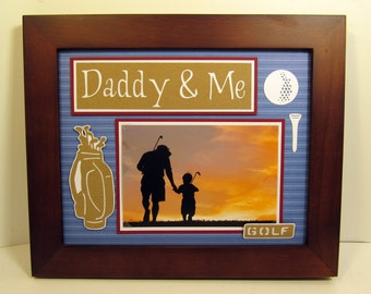 Daddy & Me Picture Frame - Sports Theme or Any You Specify - 8x10 frame houses a 4x6 photo
