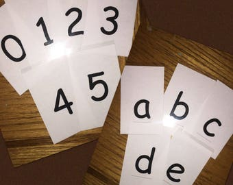 Alphabet and/or Number Cards for Teaching Apron