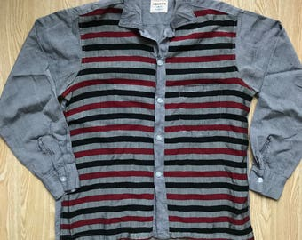 Vintage 1950s Gene Vincent Style Lurex Striped Shirt