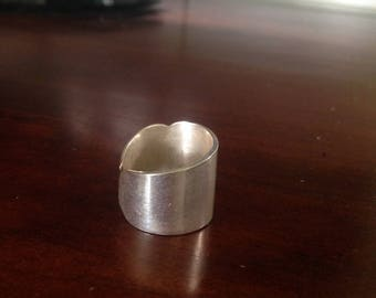 Silver knife ring