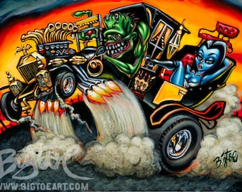 BigToe's Hot Rod Herman Limited Edition Archival Art Print
