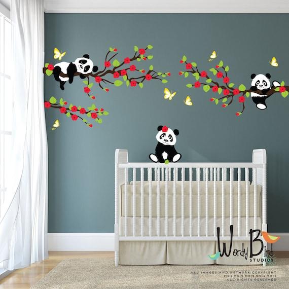 Panda Stickers Muraux Stickers Muraux Arbre Avec Des