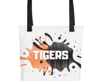 TIGERS weather resistant fabric tote bag