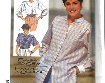 Simplicity 7326 Easy To Sew Misses Shirt In Two Lengths, Size 6-10,  UNCUT