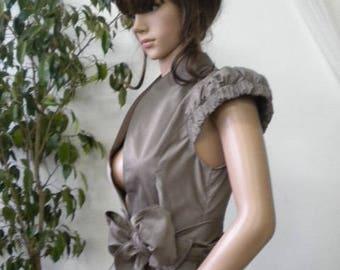 Stylish short short sleeve jacket