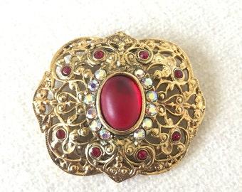 SALE Vintage Avante brooch and earrings set