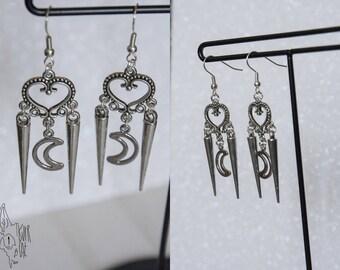 Rock dangle earrings