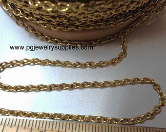 Solid Brass chain 8 links to an inch sold in 3 ft lengths