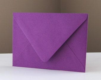 "10 Beet (Purple) RSVP Envelopes . 4Bar Envelopes . 3.625"" x 5.125"""