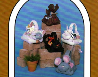 Dream Spinners #124  Pick-A-Basket Animal Gift Bag Sewing Pattern